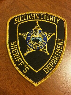 Sullivan County Tennessee TN Tenn Police Sheriff Patch  2