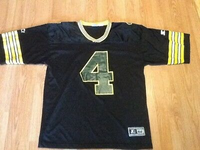 more photos 8ca61 ed55f BRETT FAVRE JERSEY Starter 52 Athletic Apparel Black Green Bay Packers #4