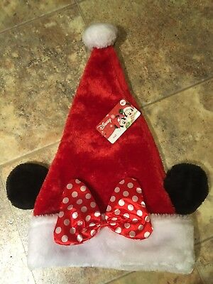 a5b2d940e6bae DISNEY Minnie Mouse Santa Hat With Ears Merry Christmas -Kids  Adults Head  Wear