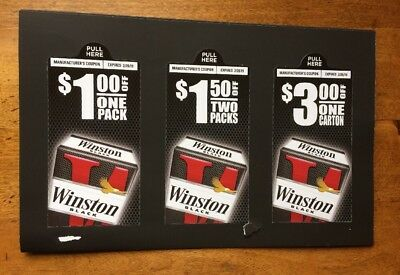 WINSTON CIGARETTE COUPONS $5.50  In Savings
