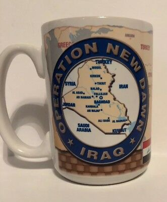 Operation New Dawn Iraq -Rare Collectible Mug Been There Done That Camp Victory