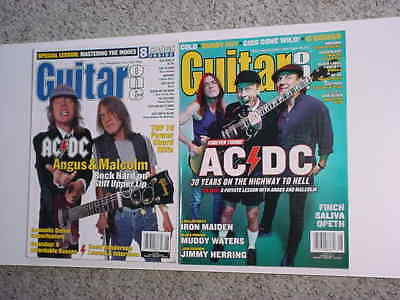 AC/DC ACDC 2 Guitar One magazines June 2000 & August 2003