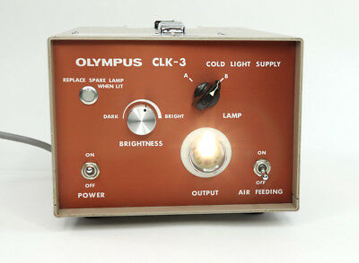 Olympus CLK-3 Cold Light Supply with Air Tested
