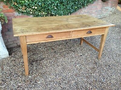 Victorian Solid Pine Desk/Farmhouse Kitchen Table