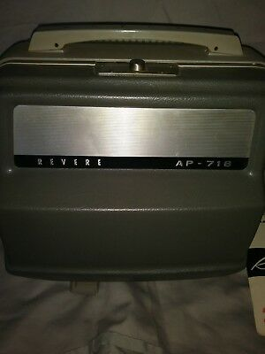Vintage Revere AP-718 8mm Movie Projector with instructions and box
