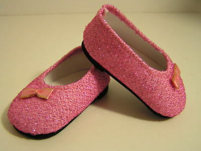 7b87bfa76fd0 HOT PINK GLITTER Slip On Shoes made for 18