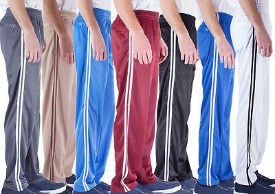 Men's Loose-Fit Open Bottom Warm-Up Running Gym Training Track Pants