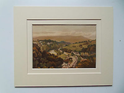 MATLOCK DERBYSHIRE RARE ANTIQUE 1879 PRINT  DOUBLE MOUNT 10x8 READY TO FRAME