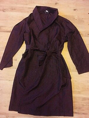 Vintage Tootal Dressing Gown / Robe , Polka Dot , Size L