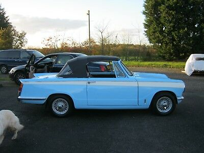 Triumph herald 13/60 convertible 1967 63,000 miles a very pretty car indeed.