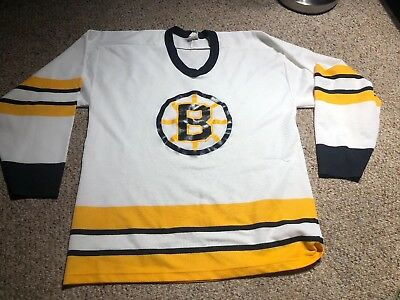VINTAGE BOSTON BRUINS Hockey Jersey Blank Ccm Bruins Jersey Size ... bf1aaaed1