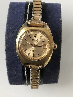 Rare Ladies Le Gant Self Q S winding Automatic 17 Jewels Watch with date at 3