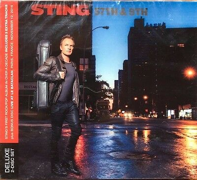 """STING """"57th & 9th RARE DELUXE EDITION 2 CD WITH LIVE AT BATACLAN 12.11.16 NEUF !"""