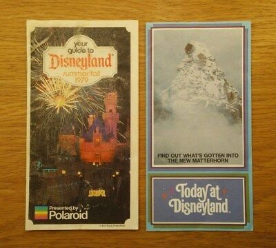 Your Guide to Disneyland. Summer/Fall 1979. With Today at Disneyland leaflet.