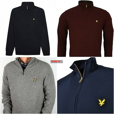 Lyle & Scott half Zip Neck Cotton Sweater Jumper!!!!