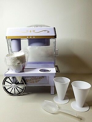 Snow Cone Maker Machine Home Appliances Vintage Collection Carnival Style White