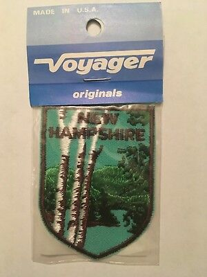 Vintage Voyager State of New Hampshire Forest Mountains Patch NIP