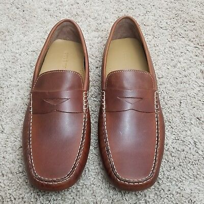 aa45aec1558 COLE HAAN HOWLAND Penny Mens Loafers C04534 Saddle Tan Size 10 W ...
