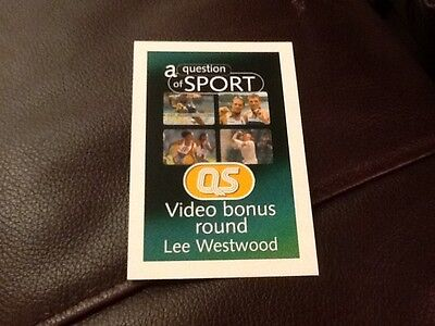 Lee Westwood / Golf / A Question of Sport game card / 1999