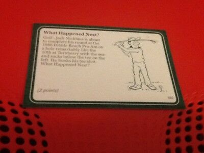 #582 Jack Nicklaus golf / A Question of Sport game card / 1987 subset