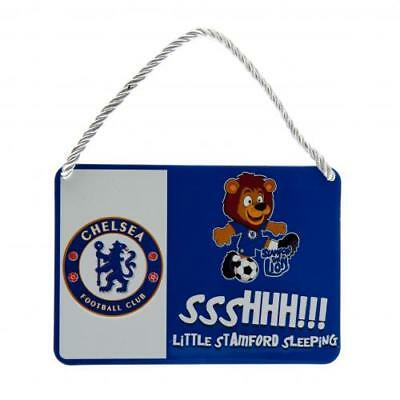 Chelsea FC Official Crested Metal Mascot Bedroom Sign No 1 Fan Present Gift