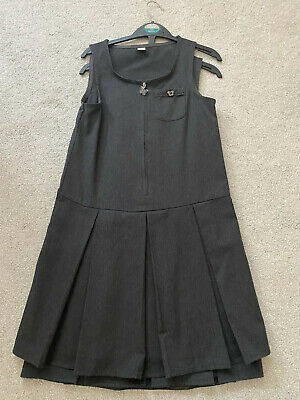 Girls School 2x Grey Pinafore Dress Size 10 years Excellent Condition From Tu