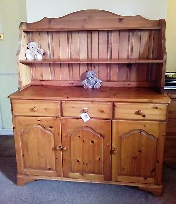 Solid Pine Chiffonier / Sideboard / Welsh Dresser Shelves Display Storage