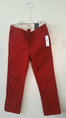 Gap Kids Boys Chino Pants Size 7 Color Red New With Tags