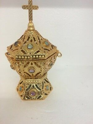 Christian Greek/Serbian/Russian Orthodox Incense Burner NEW gold