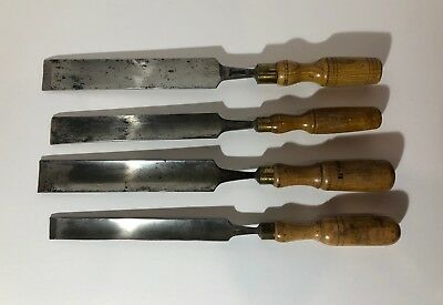Mixed Set of 4 Shallow Pattern Makers Gouges Chisels