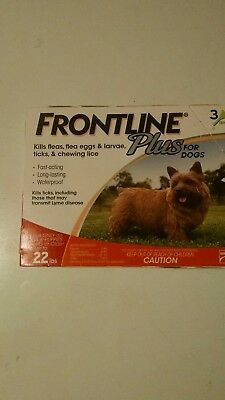 Frontline Plus for Dogs Puppies Tick Flea Control 3 Month Merial 5-22 lbs