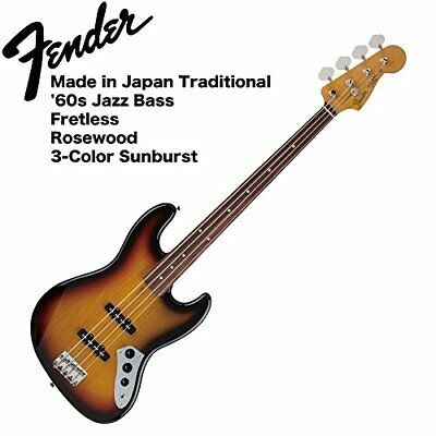 Fender Made in Japan Traditional '60s Jazz Bass Fretless 3 TSB Base VOX with amp
