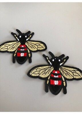 Bee patch badge aplique motif embroidered patch gucci inspired