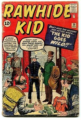 Rawhide Kid #30 Marvel Comics 1962 GD- 1.5