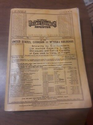 The Official Railway Equipment Register July 1971