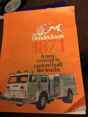 Hendrickson  Model 1871 Fire Truck Brochure-1975