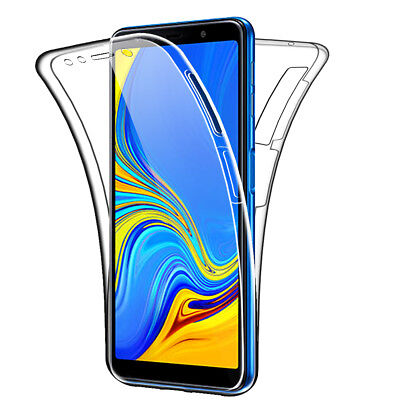 SDTEK Samsung Galaxy A7 (2018) Case 360 Full Cover Silicone Front + Back
