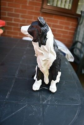 "Dogs and ornaments - latex mould mold of a large Collie  Dog 7"" tall"