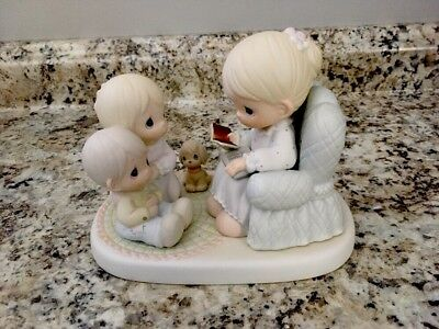 "Precious Moments Figurine 57556 - ""Bring The Little Ones To Jesus"" 1991"