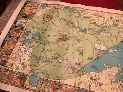 The Arrowhead of Minnesota Map Copyright 1929 Map by Irene Anderson