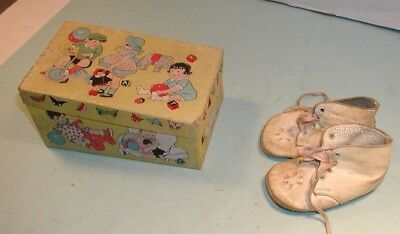 Vintage White Baby Shoes in Box