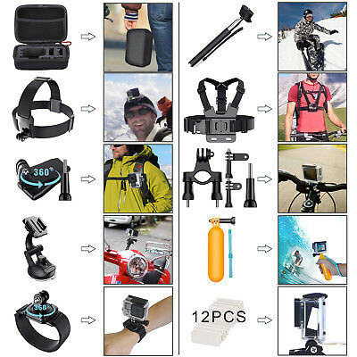 GoPro Accessories Hero 8 7 6 5 4 3 2 1 Bundle Camera Outdoor Sports Set Kit