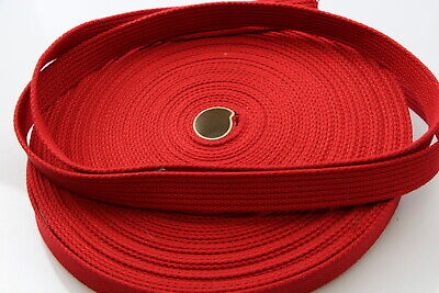 Polyester Brushed Soft Webbing 25mm 50mts Ribbed dog horse leads