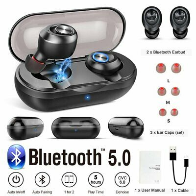 TWS Twins Bluetooth 5.0 Earphone Stereo Wireless Earbuds In-Ear Sport Headset