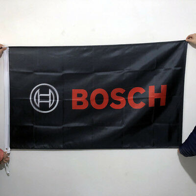 Bosch Flag Banner 3x5ft Auto Parts Car Racing Wall Garage Polyester 2Grommet/259