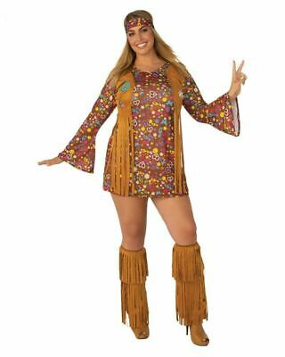 Summer Of Love Hippie Plus Size Adult Costume