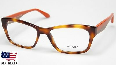 efdbbae27fb NEW PRADA VPR 24R TKR-1O1 LIGHT HAVANA EYEGLASSES GLASSES FRAME 52 ...