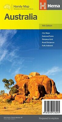 Hema Maps - Australia - Handy Map - 11Th Edition - City National Parks Grid Road