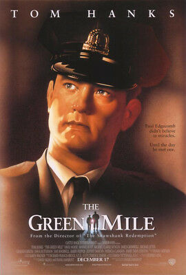 THE GREEN MILE MOVIE POSTER 2 Sided ORIGINAL VF 27x40 TOM HANKS STEPHEN KING