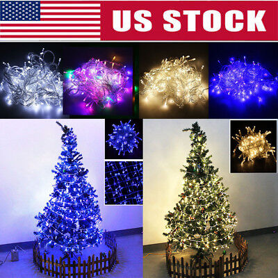 Waterproof 10M String 100 LED Christmas Tree Fairy Party Lights Xmas Decor Lamps